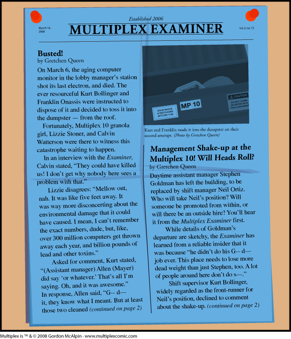 Multiplex #216: March 2008 Multiplex Examiner