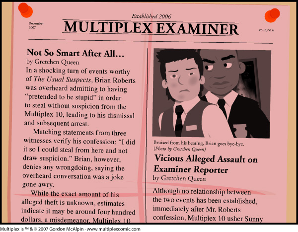 Multiplex #184: December 2007 Multiplex Examiner